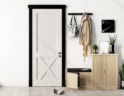 摆件组合, 书柜, 门, 北欧