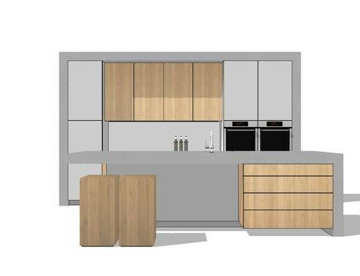 橱柜, 厨柜, 现代, 厨房