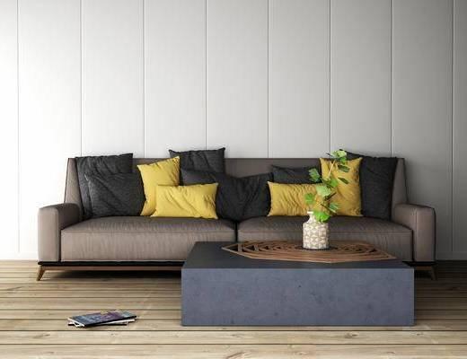 多人沙发, 茶几, 现代