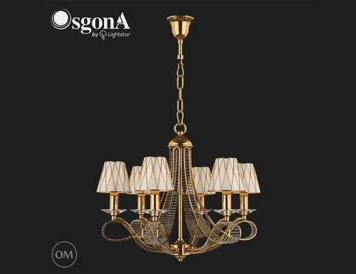 后现代, 吊灯, 金色, 中国Osgona