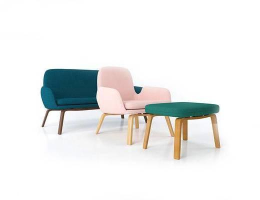 北欧简约, 沙发组合, 北欧沙发, 北欧