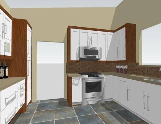 现代厨房, 橱柜, 厨房橱柜