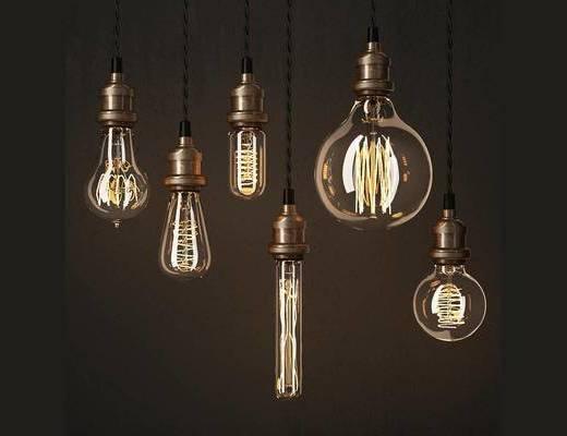 现代, 简约, 吊灯, 灯饰