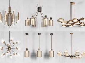 现代简约, 吊灯组合, 灯具组合