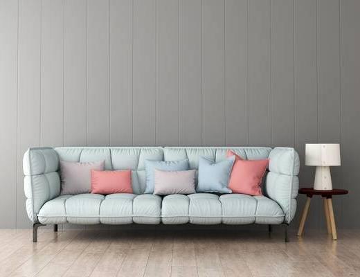 沙发组合, 多人沙发, 边几, 现代