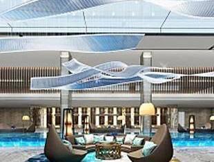 现代酒店水池大堂大厅