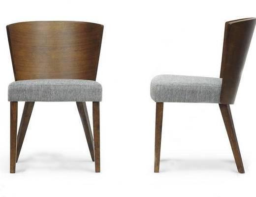 美式简约, 实木椅子, 椅子, 美式椅子