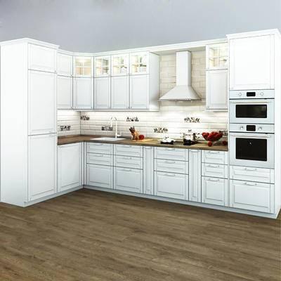 厨房, 橱柜, 洗手台, 欧式, 抽油烟机, 水龙头