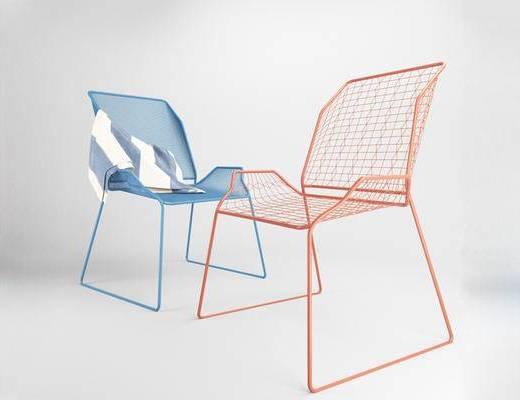 现代简约, 椅子, 现代椅子, 单人椅, 下得乐3888套模型合辑