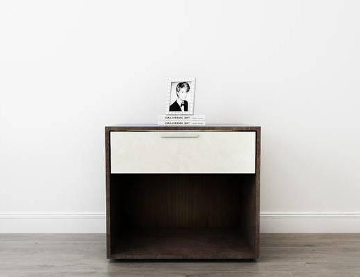 摆件组合, 床头柜, 相框, 现代