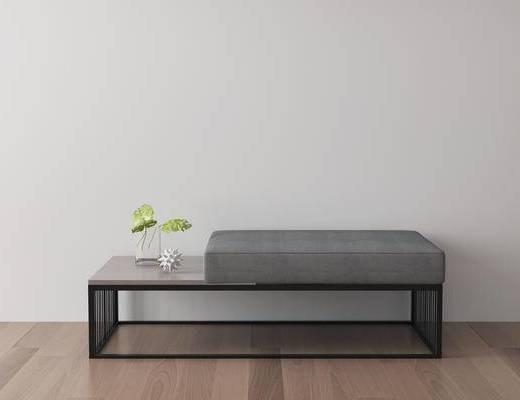 单人沙发, 沙发凳, 现代