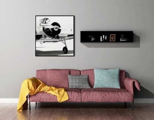 双人沙发, 壁画, 北欧
