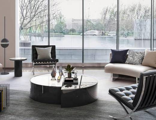 现代休息区, 休息区, 沙发组合