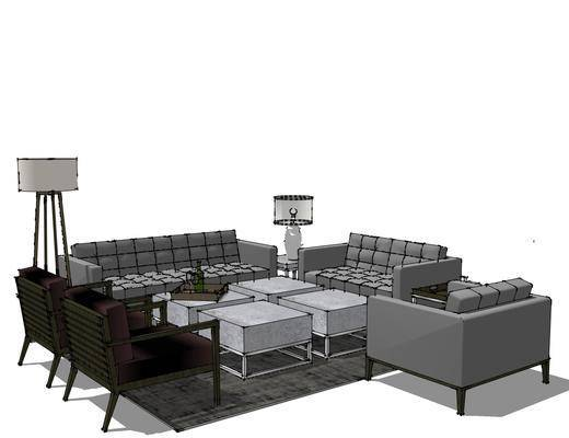 现代沙发茶几组合, 沙发茶几组合