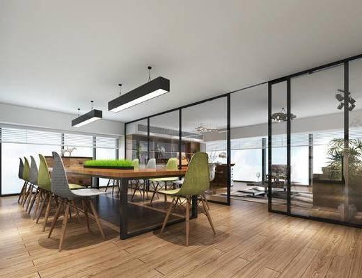 办公大厅, 会议室, 总经理室, 办公桌, 360全景, 会议桌