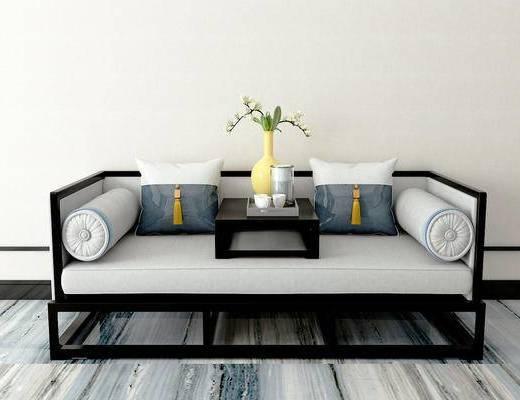 双人沙发, 新中式