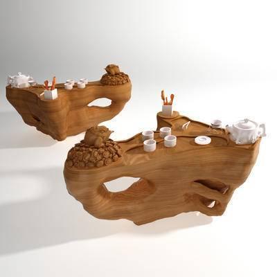 根雕茶海, 中式