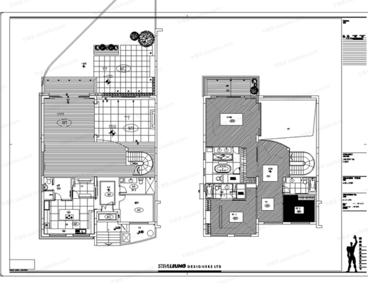 CAD, 梁志天, 家装, 别墅, 样板房, 施工图, 平面, 立面
