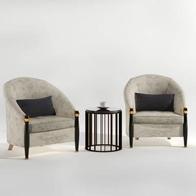 單人沙發, 邊幾, 現代