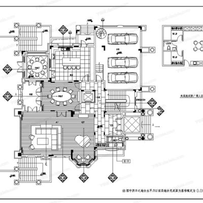 CAD, 家装, PAL, 别墅, 施工图, 平面图, 立面图