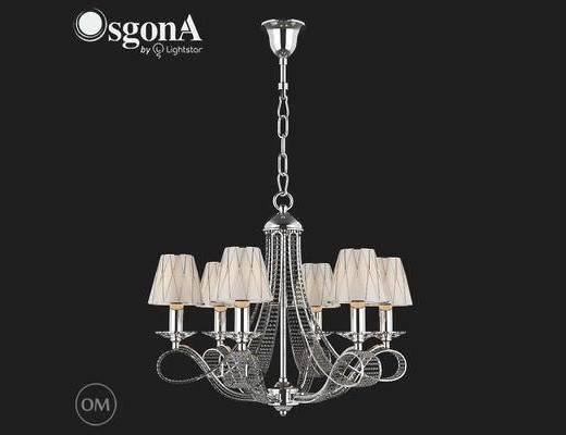 后现代, 吊灯, 银色, 中国Osgona