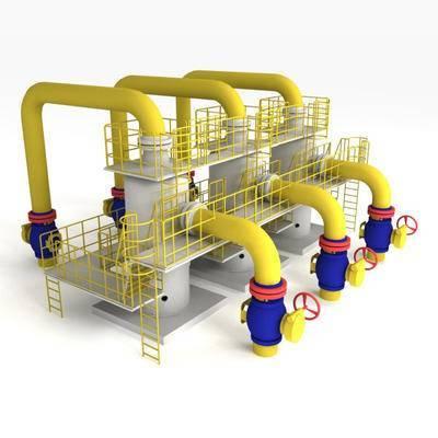 下得乐品牌模型库, 工业风, 污水处理器