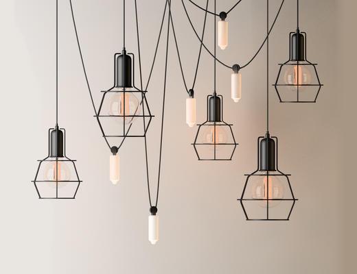 loft, 复古吊灯, 吊灯, 工业风格