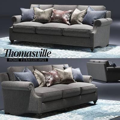 多人沙发, 现代, 沙发, 抱枕