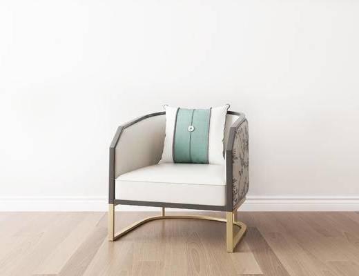 单椅, 椅子, 新中式