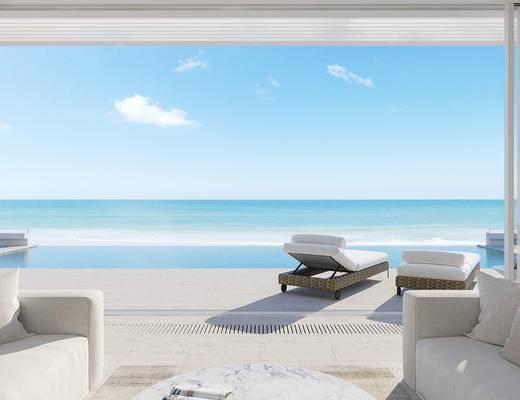 家装, 现代, 吧台, 单人椅, 1000套空间酷赠送模型