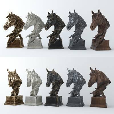 马头雕塑, 现代