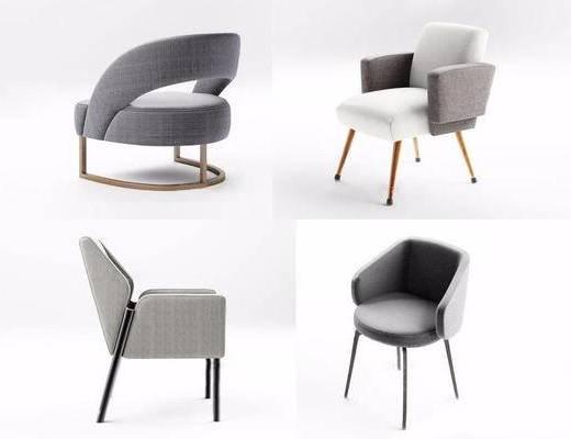 现代, 沙发椅, 单人沙发
