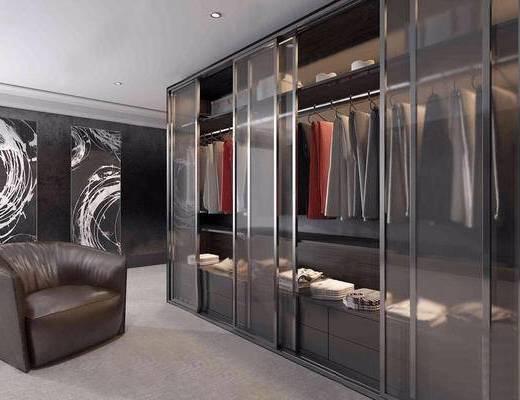 服饰组合, 衣柜, 沙发椅