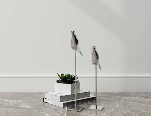 摆件组合, 盆栽, 现代