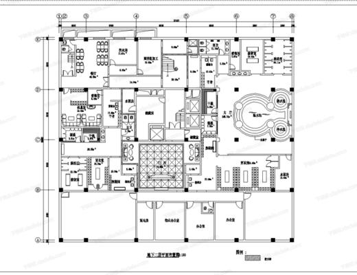 CAD, 施工圖, 工裝, 洗浴城, 平面圖, 立面圖