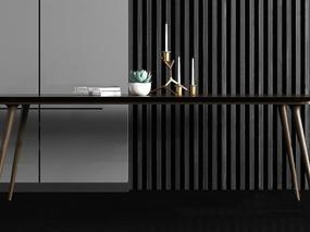 现代简约, 桌子, 金属烛台, 盆栽, 组合