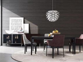现代简约, 餐桌椅组合, 桌椅组合, 吊灯