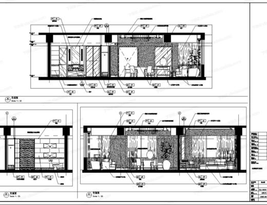 CAD, 工装, 酒店, 客房, 总统套房, 施工图, 平面图, 立面图, 节点, 大样, 电路图, 天花图