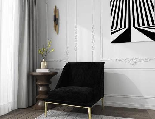 美国KOKET, 北欧, 单人沙发, 沙发