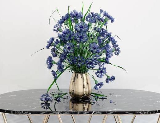 花瓶花卉, 现代