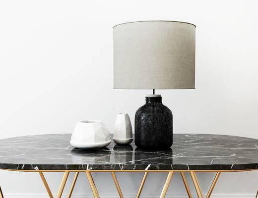 摆件组合, 台灯, 陶瓷器皿, 现代