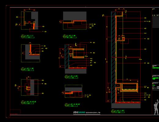 CAD施工图, 平面图, 立面图, 家装, 大师