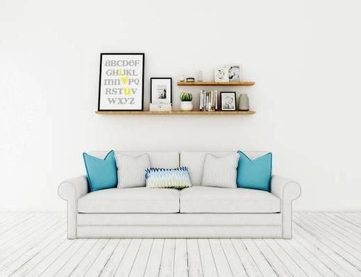 双人沙发, 置物架, 北欧