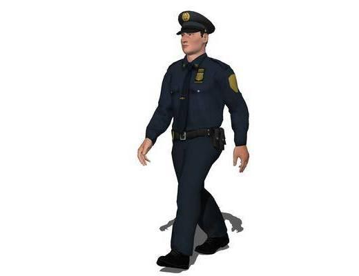 现代, 装饰, 警察, 男人