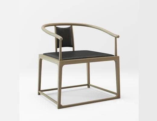 中式简约, 实木椅子, 椅子, 中式椅