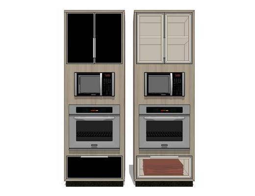 厨房电器, 摆件, 装饰, 微波炉