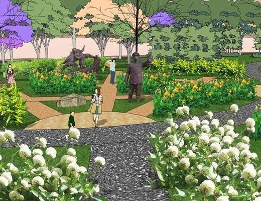 景观园林, 装饰, 湿地, 公园