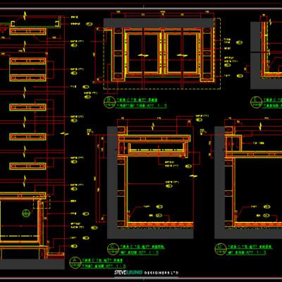 CAD施工图, 大师, 别墅, 平面图, 立面图, 下得乐3888套模型合辑