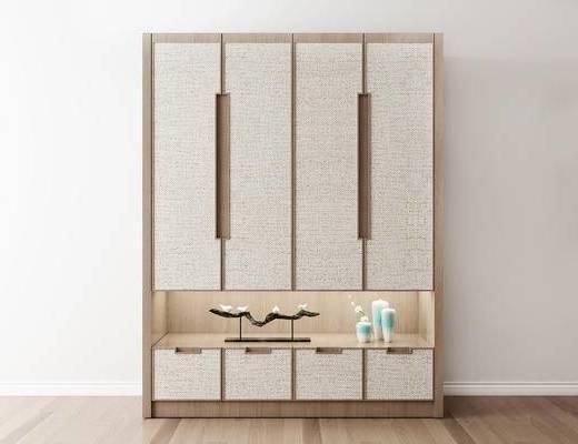 摆件组合, 衣柜, 新中式