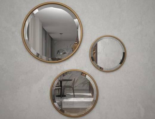 后现代, 金属镜子, 装饰镜